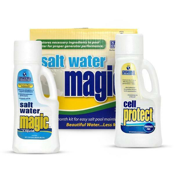 Natural chemistry 07404 salt water pool cell cleaner magic - Saltwater swimming pool chemistry ...