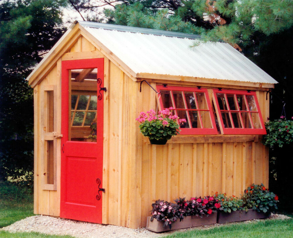 Diy plans 6 x 8 greenhouse storage shed garden tool for Potting shed plans diy blueprints
