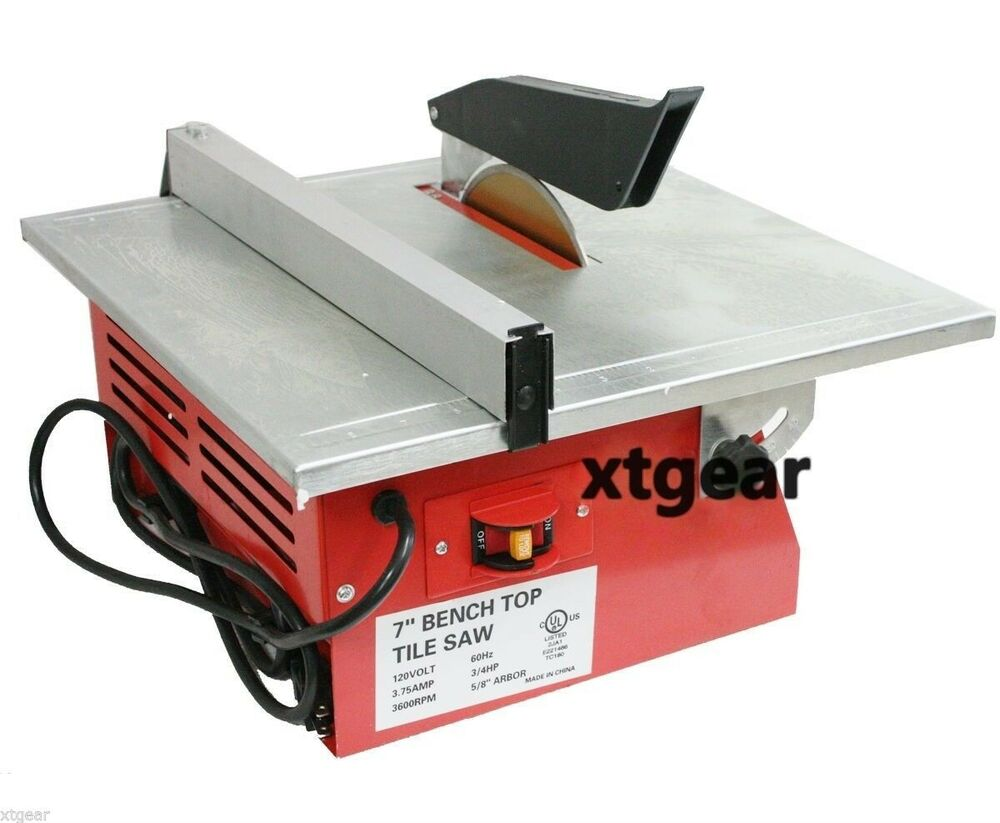 7 Quot Wet Tile Saw W Tray Tile Cutter Bench Top Tile Saw Ul