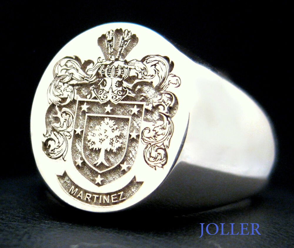 Signet Ring L Large 17mm X 14mm Family Crest Custom