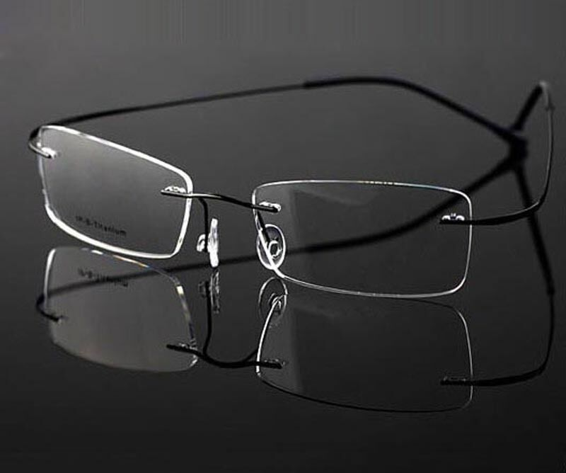 Rimless Glasses Titanium : NEW Titanium Rimless glasses optical frames Eyeglass ...