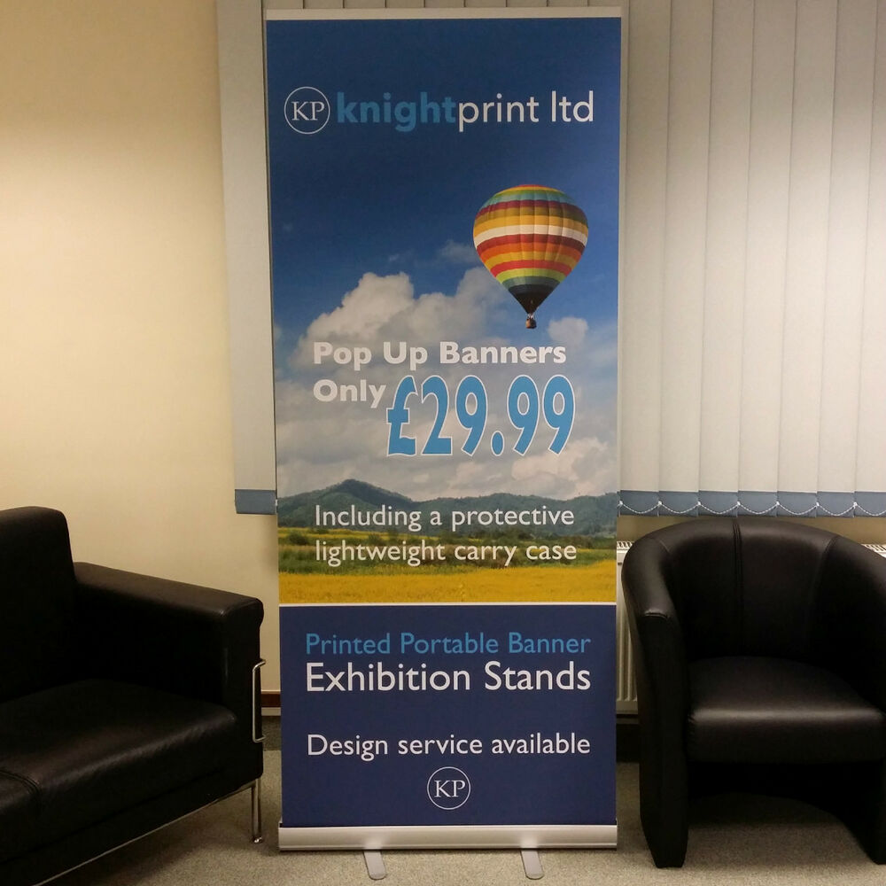 Exhibition Stand Roll Up : Pop up banner roller roll pull