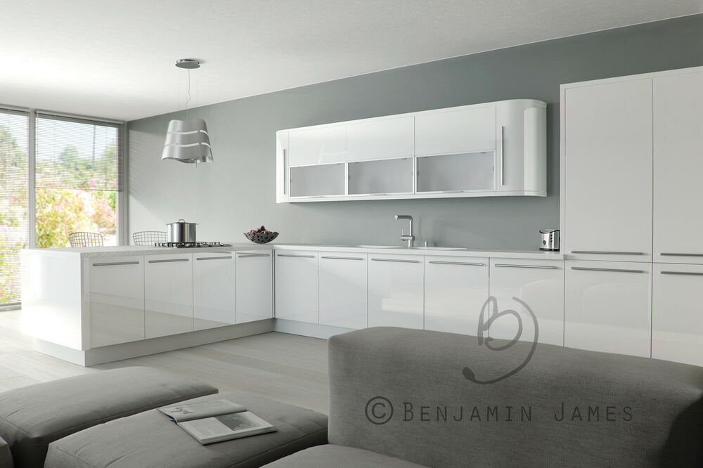 High Gloss White Kitchen Cabinet Cupboard Door Fronts