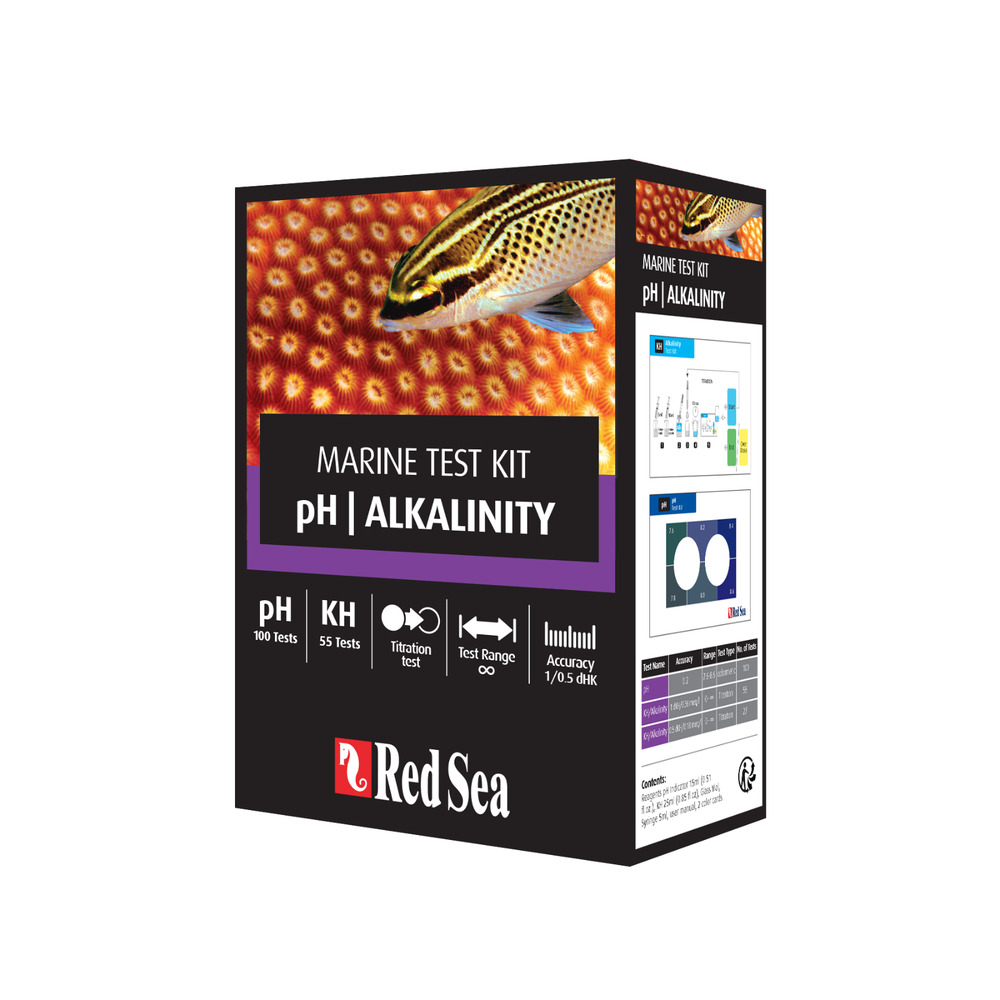 Red sea marine care ph alkalinity test kit reef for Saltwater fish tank kit