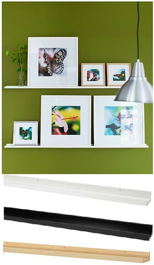 ikea picture ledge 45 wall floating shelf white book