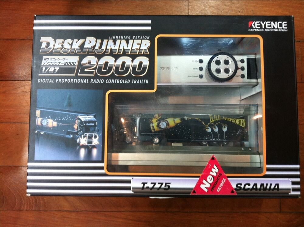 KEYENCE DESK RUNNER 2000 1/87 SCALE MICRO RC TRAILER TRUCK ...