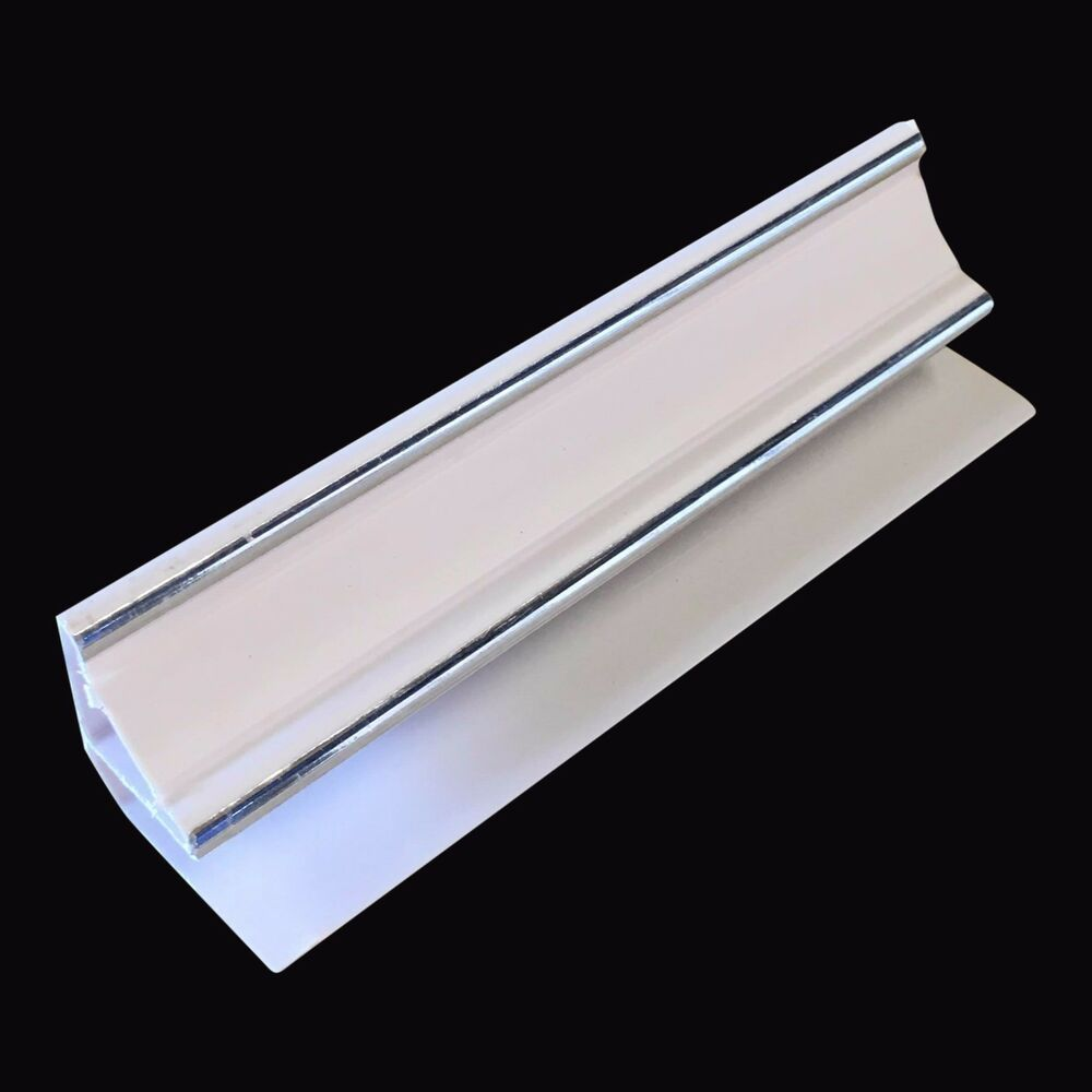 Silver white 8mm coving trim for bathroom ceiling for Coving for bathroom ceilings