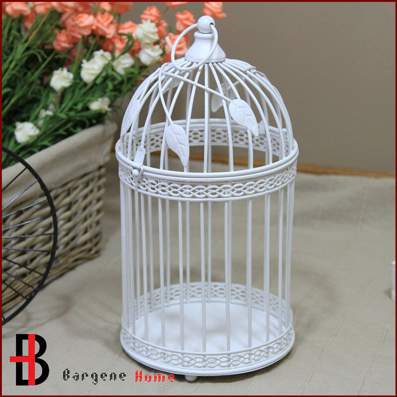 Outside Candle Holders: Vintage Iron Metal Lantern Candle Holder For Outdoor