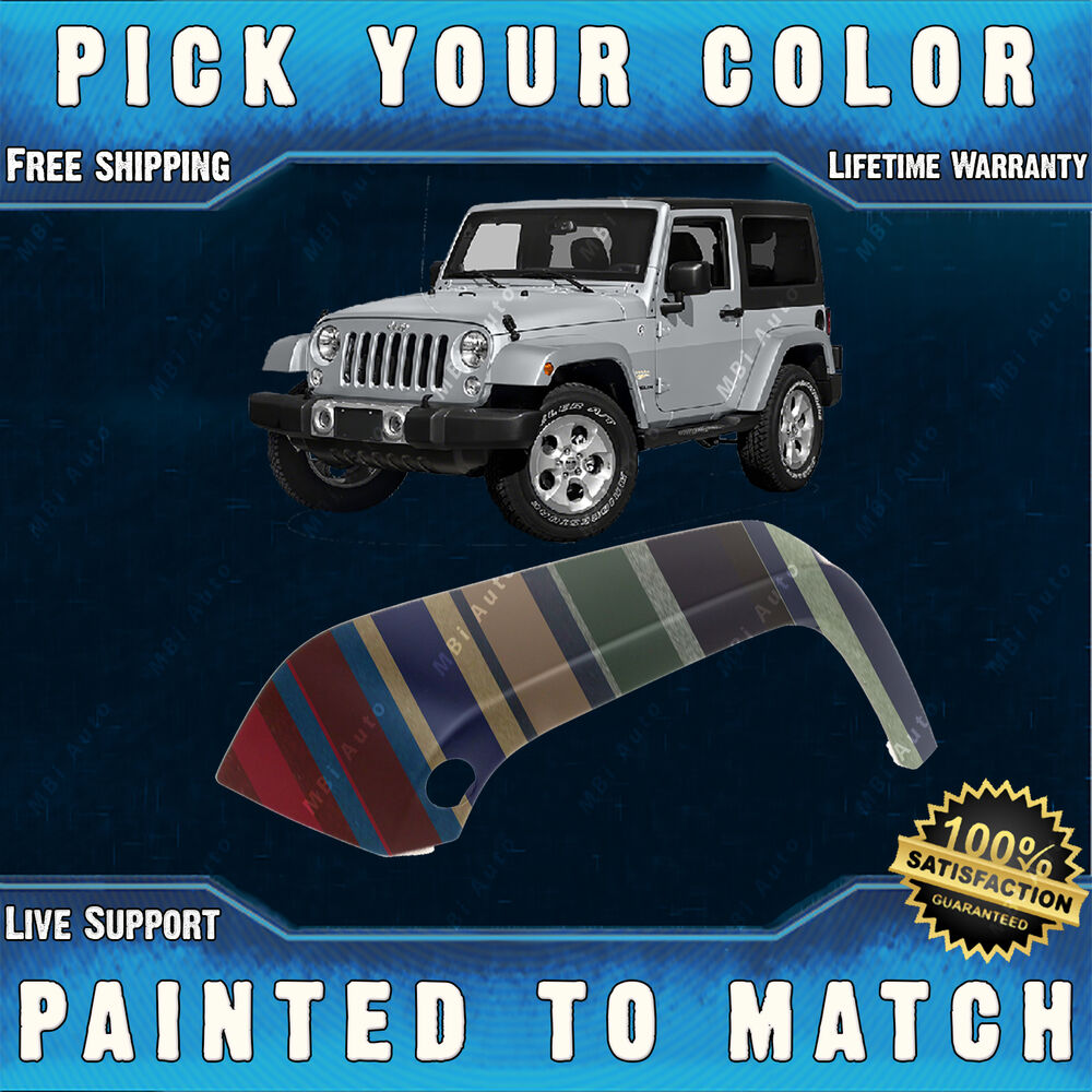 Flat Fender Jeep >> New Painted to Match - Drivers Front LH Fender Flare for ...