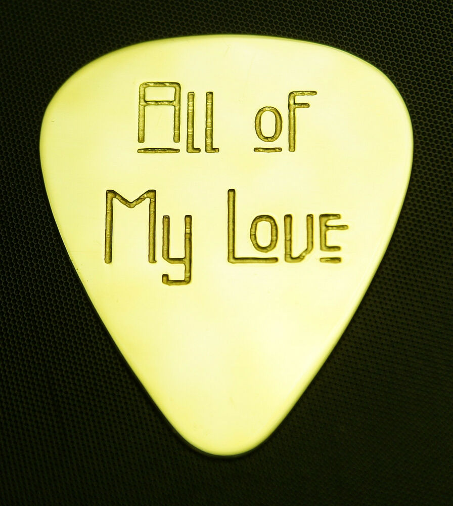 all of my love solid brass guitar pick acoustic electric bass ebay. Black Bedroom Furniture Sets. Home Design Ideas