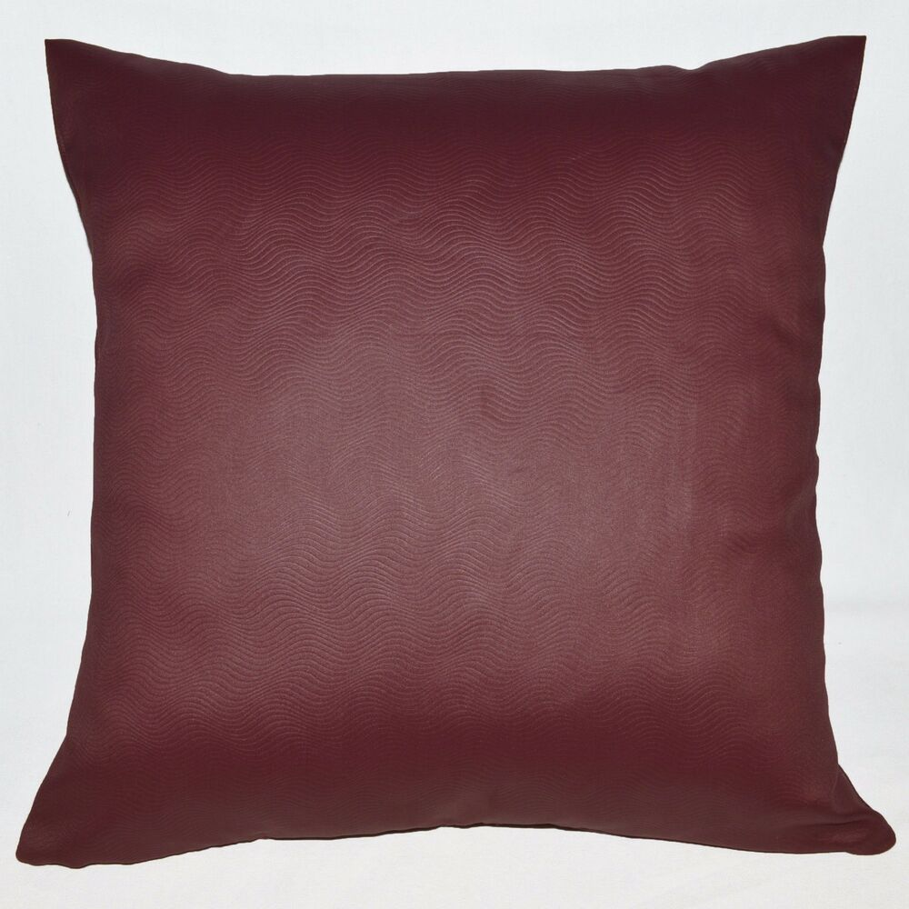 Hb403a Burgundy Embossed Wave Curve Throw Cushion Cover/Pillow Case*Custom Size eBay