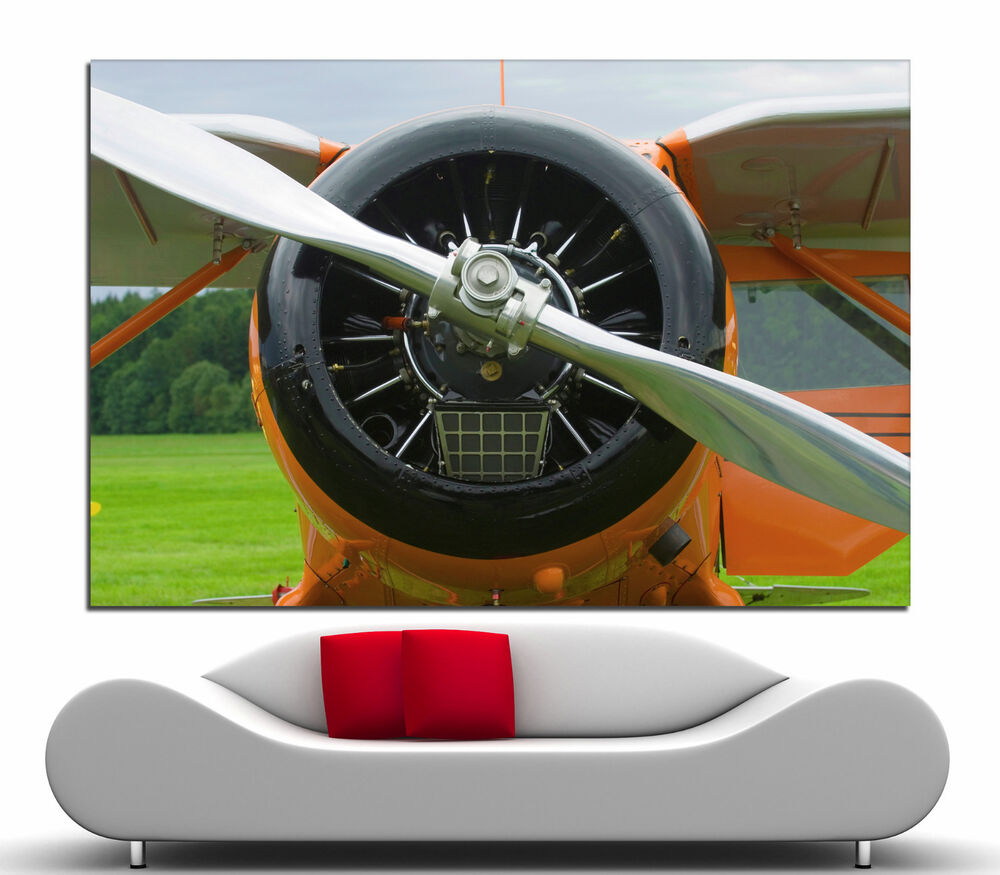 Wall art propeller airplane canvas print picture prints for Airplane propellers for decoration