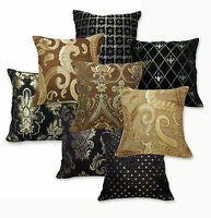 Damask Paisley Checker Pattern Cotton Blend Cushion Cover/Pillow Case Custom Sz