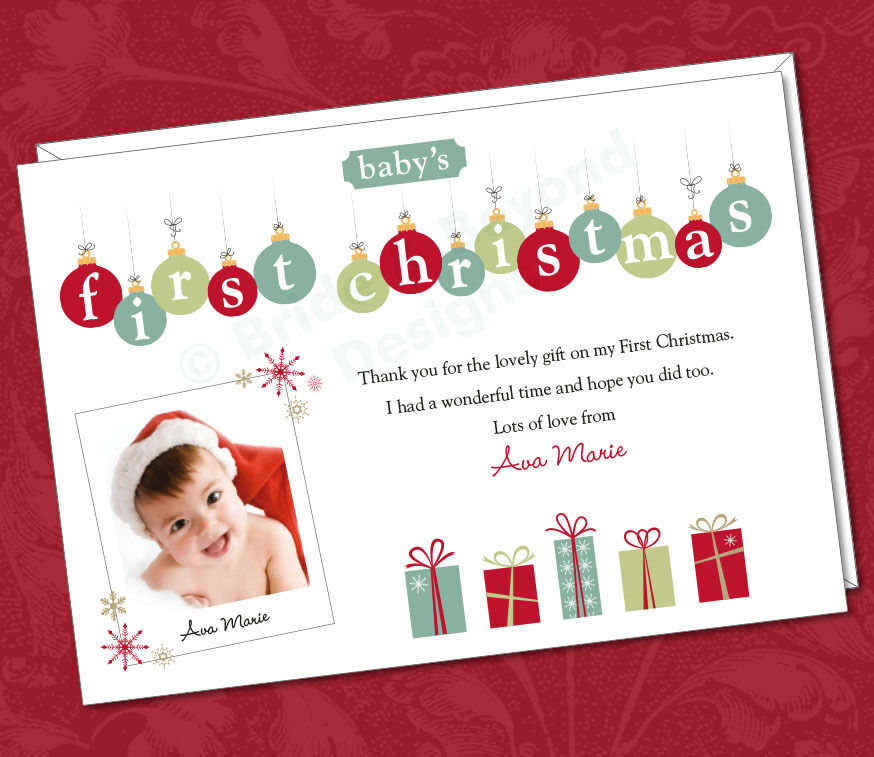 25 x Personalised Photo Thank You Cards Babys 1st First – Christmas Thank You Cards