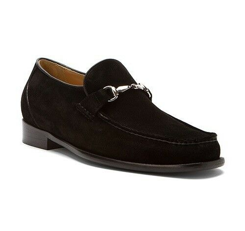 dino monti s sergio slip on suede loafer dress shoes