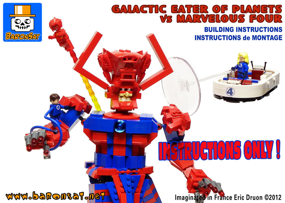 LEGO INSTRUCTIONS ONLY Build CUSTOM MARVEL GALACTUS ...