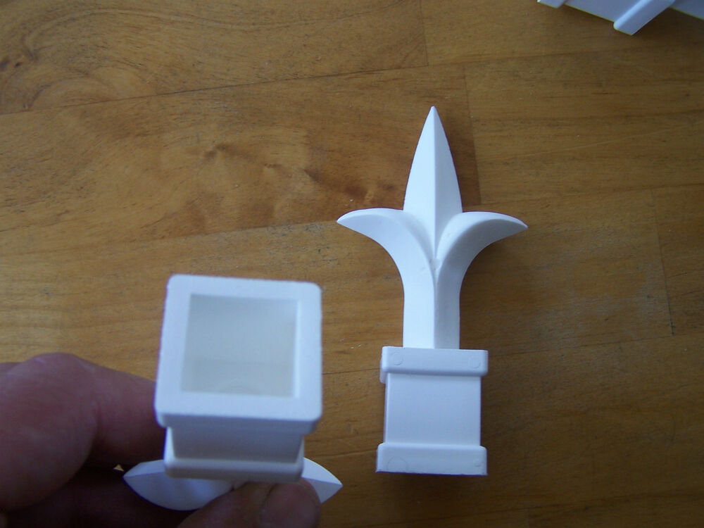 Lot Of 50 White Plastic 3 4 Inch Picket Fence Finials Ebay