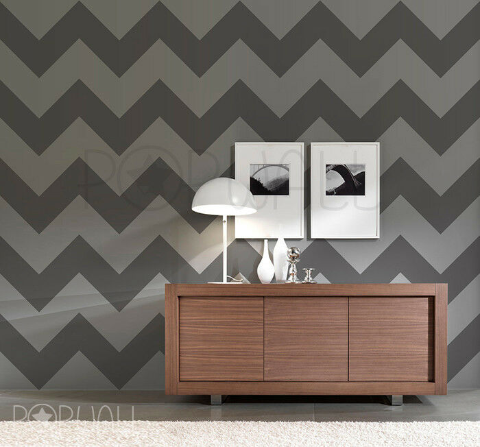 Zig Zag Wallpaper Pattern Wall Decal Chevron Sticker For