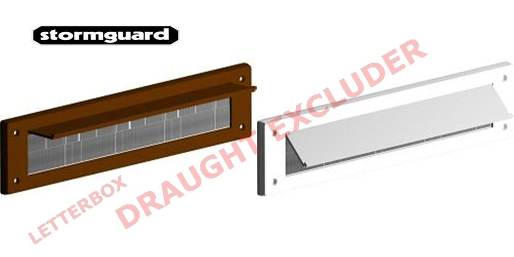 stormguard white letter box brush bristle draught excluder