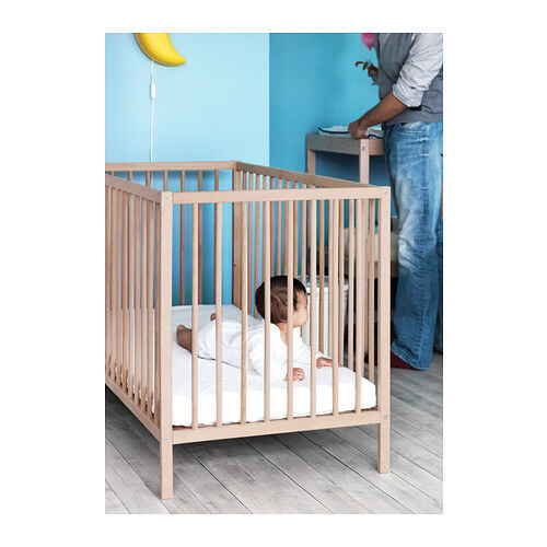 ikea babybett sniglar gitterbett kinderbett bett buche120x60 cm neu ovp ebay. Black Bedroom Furniture Sets. Home Design Ideas