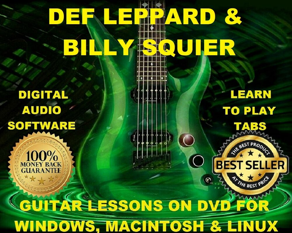 Def Leppard 209 Billy Squier 30 Guitar Tabs Software Lesson Cd 51