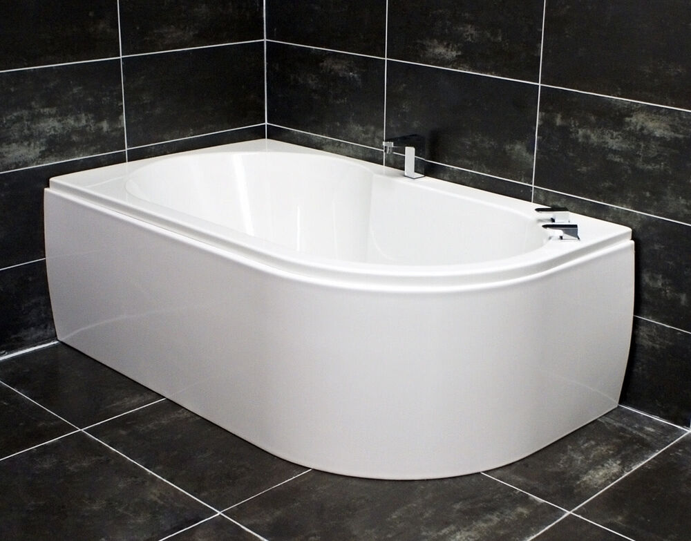 Offset Corner Bath Acrylic 1550 X 900mm White Left Or