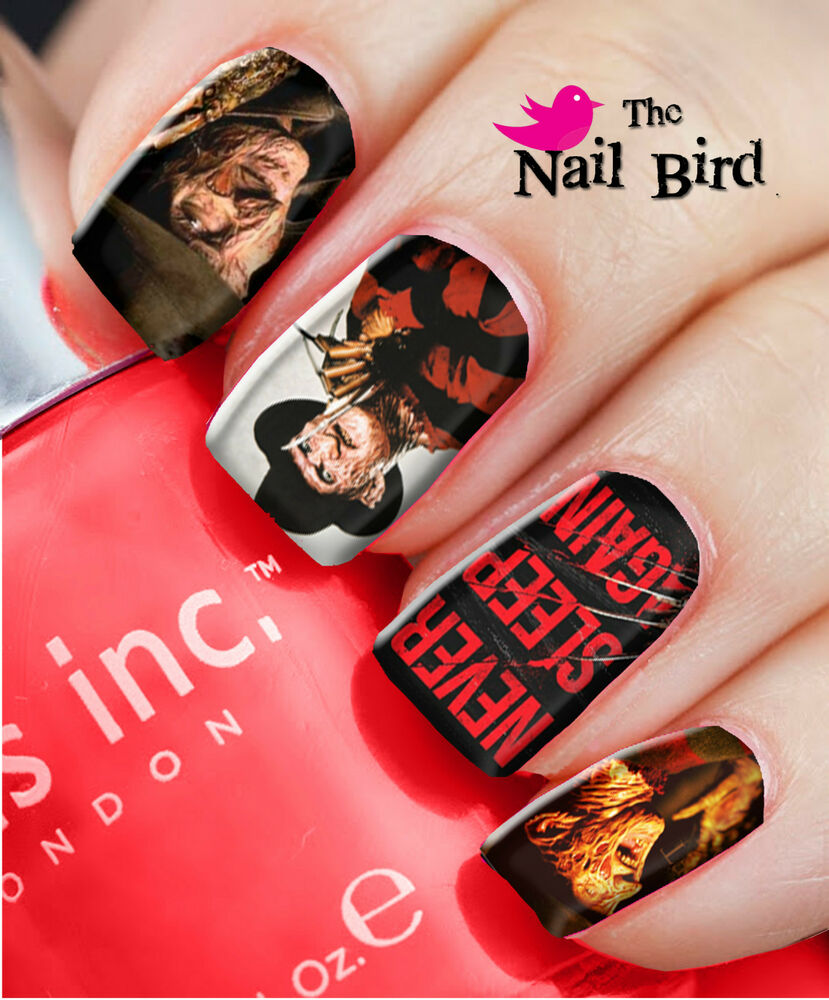 Nail Art Nail Decals Nail Transfers FREDDY KRUGER - NIGHTMARE ON ELM ...