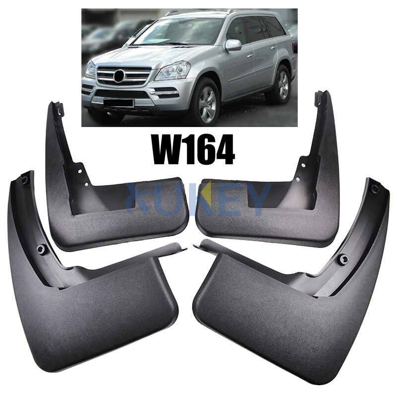 Set splash guard for 2007 2012 mercedes benz gl class x164 for Mercedes benz 2007 gl450 accessories