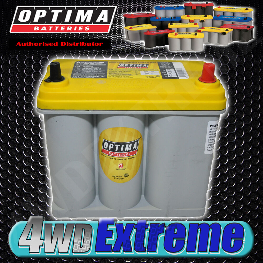 Optima Yellow D51r T1 Small Terminal Agm Battery Skyline