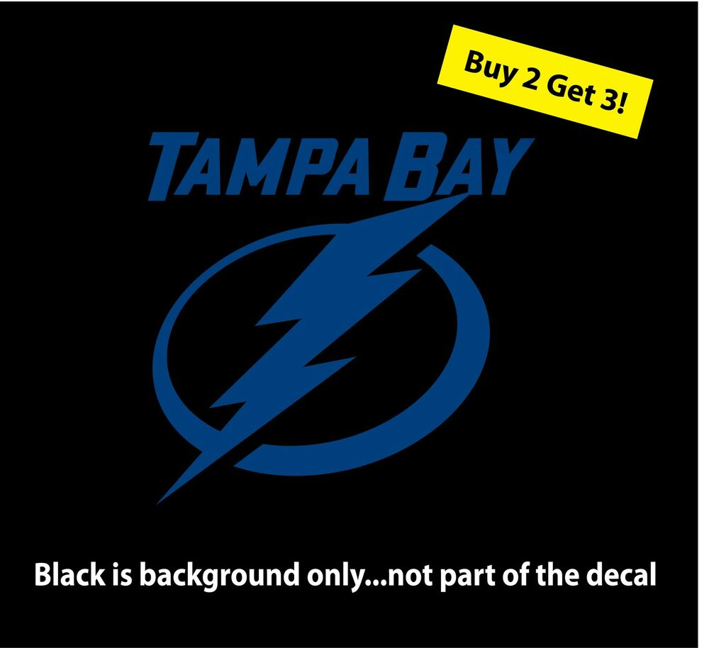 Tampa bay lightning car truck laptop vinyl window decal for Select motors of tampa