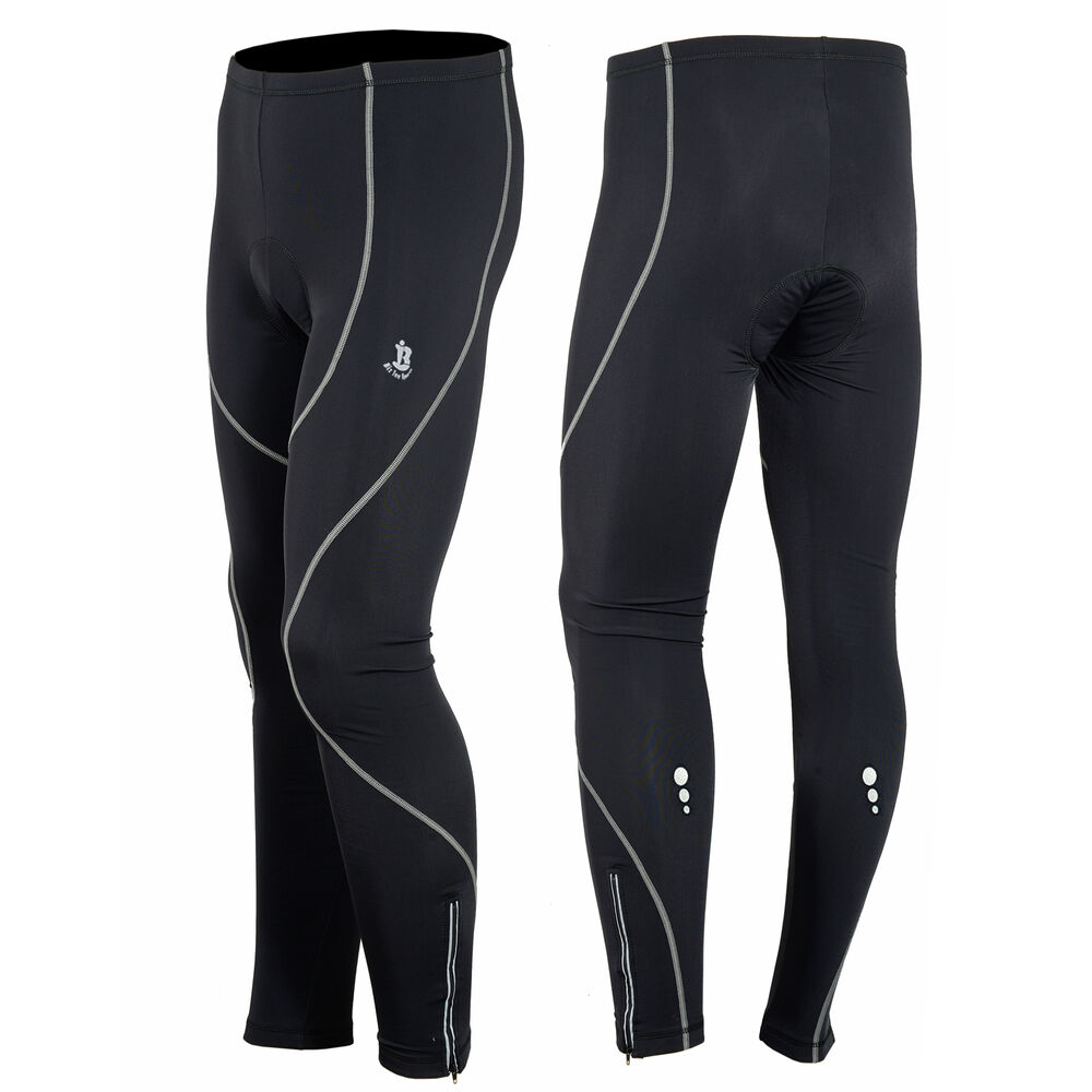 Mens Winter Cycling Tights Trouser Running Cycle Legging ...