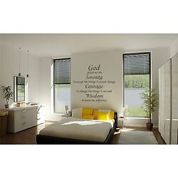 God Grant Me the Serinty wall vinyl decal