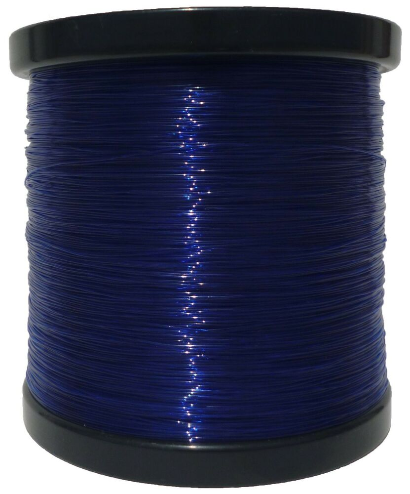 5lb bulk spool monofilament fishing line dark blue elmax for Fishing line test
