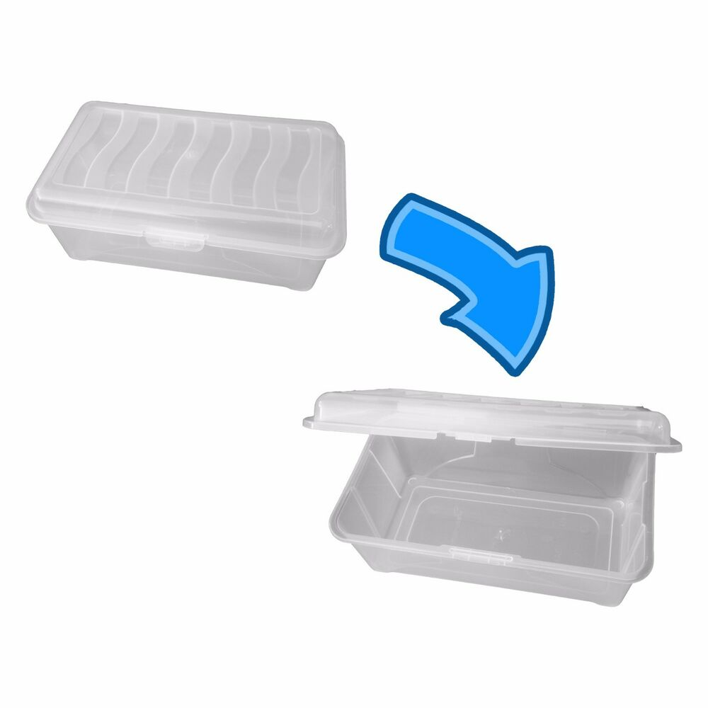 clear storage box with lid shoe box plastic clear ebay. Black Bedroom Furniture Sets. Home Design Ideas