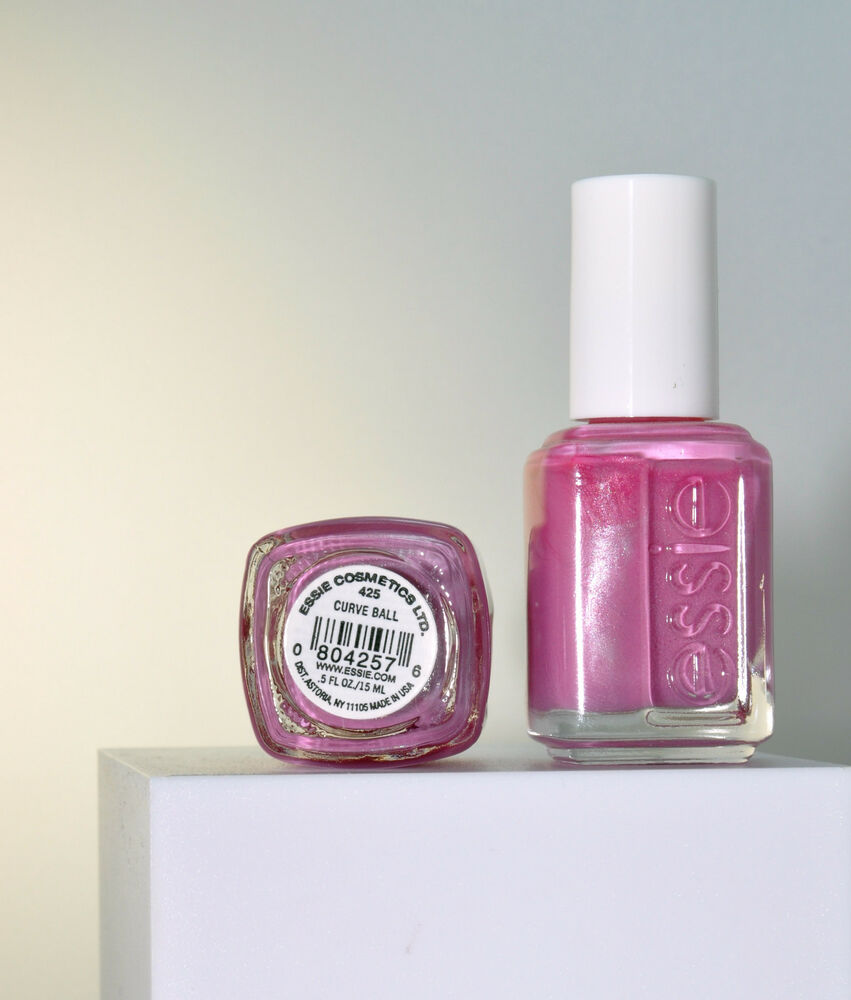 Essie CURVE BALL VHTF Mauvey Pink with Slight Shimmer Discontinued ...