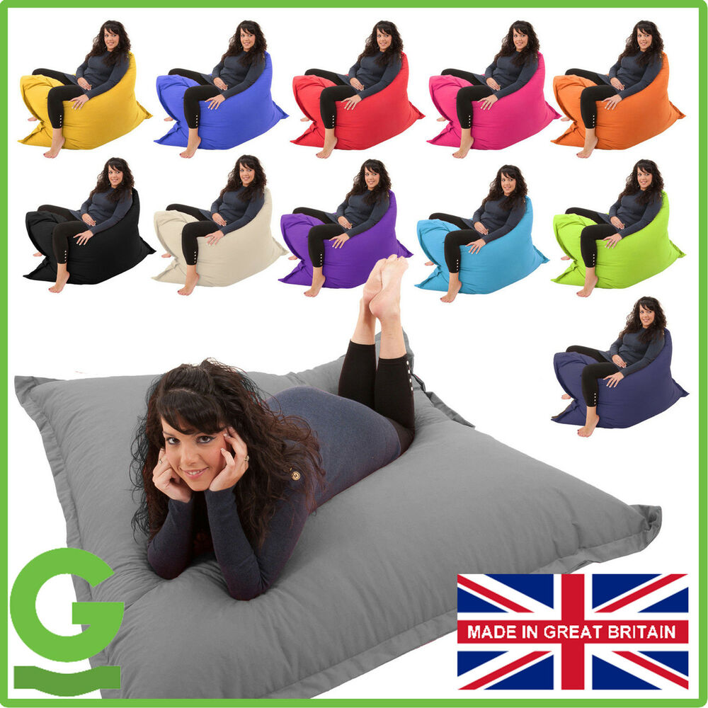 giant bean bag 4 in 1 floor cushion chair bed lounger beanbag kids outdoor gilda ebay. Black Bedroom Furniture Sets. Home Design Ideas