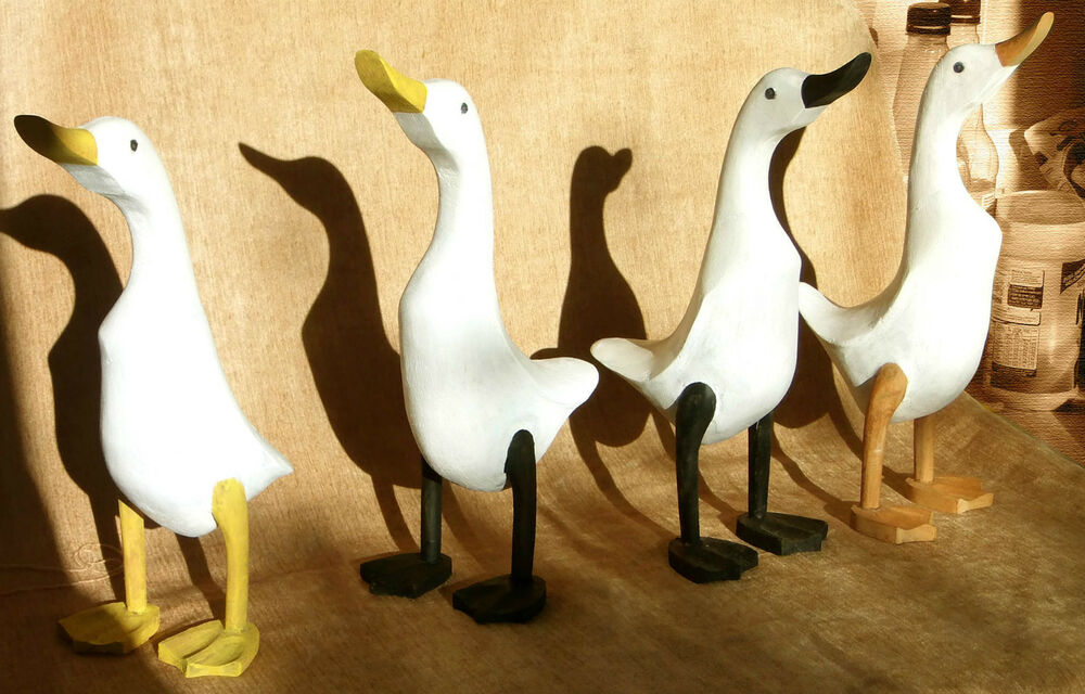 Wooden Ducks Medium Custom Painted From Mags Furniture Crafts Ebay