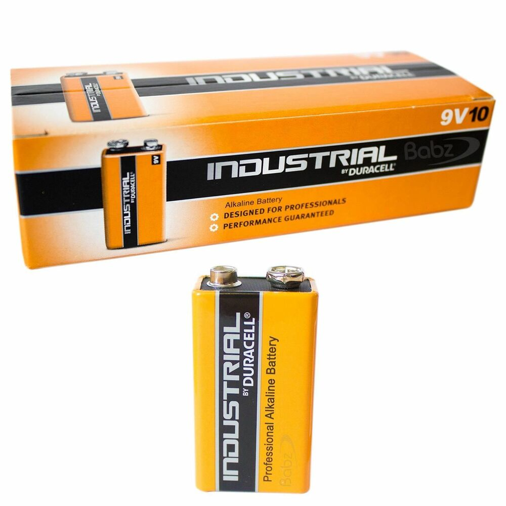 10 duracell industrial 9v batteries alkaline pp3 pp3 ebay. Black Bedroom Furniture Sets. Home Design Ideas