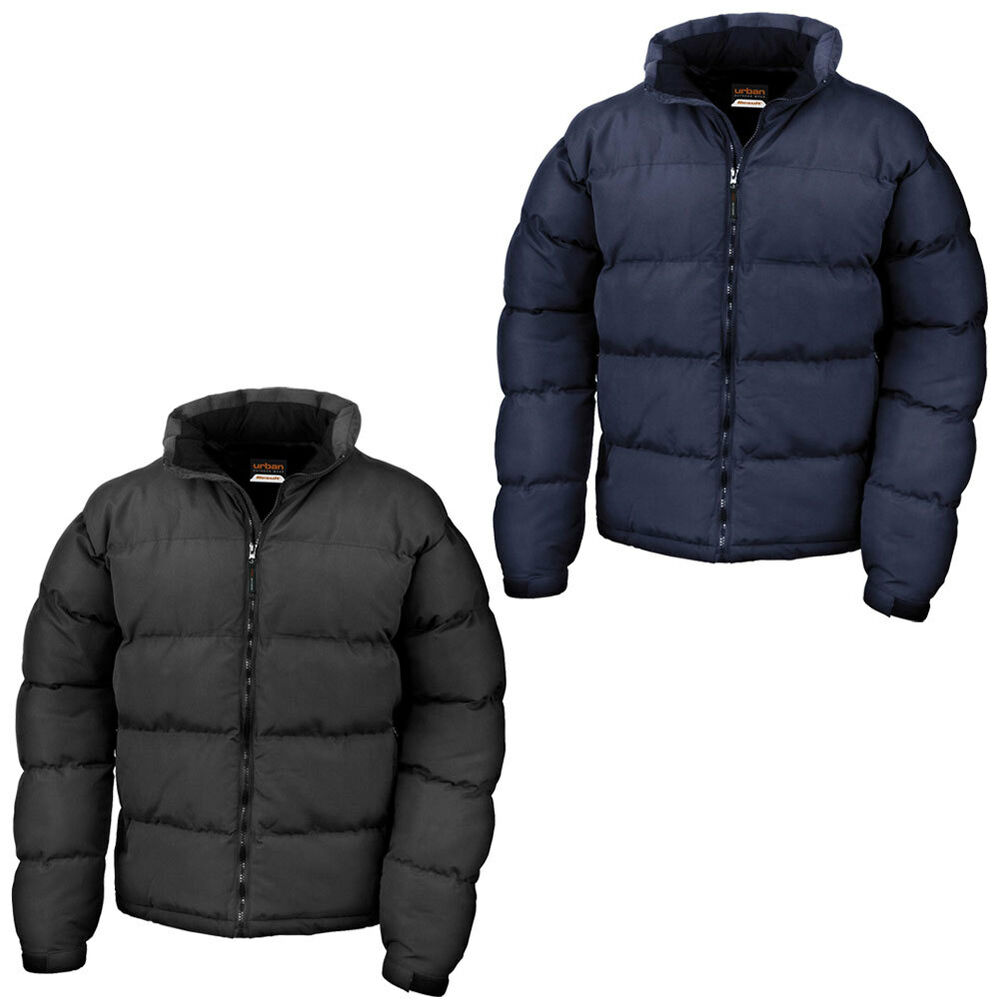 New Result Mens Urban Holkham Down Feel Puffer Jacket In