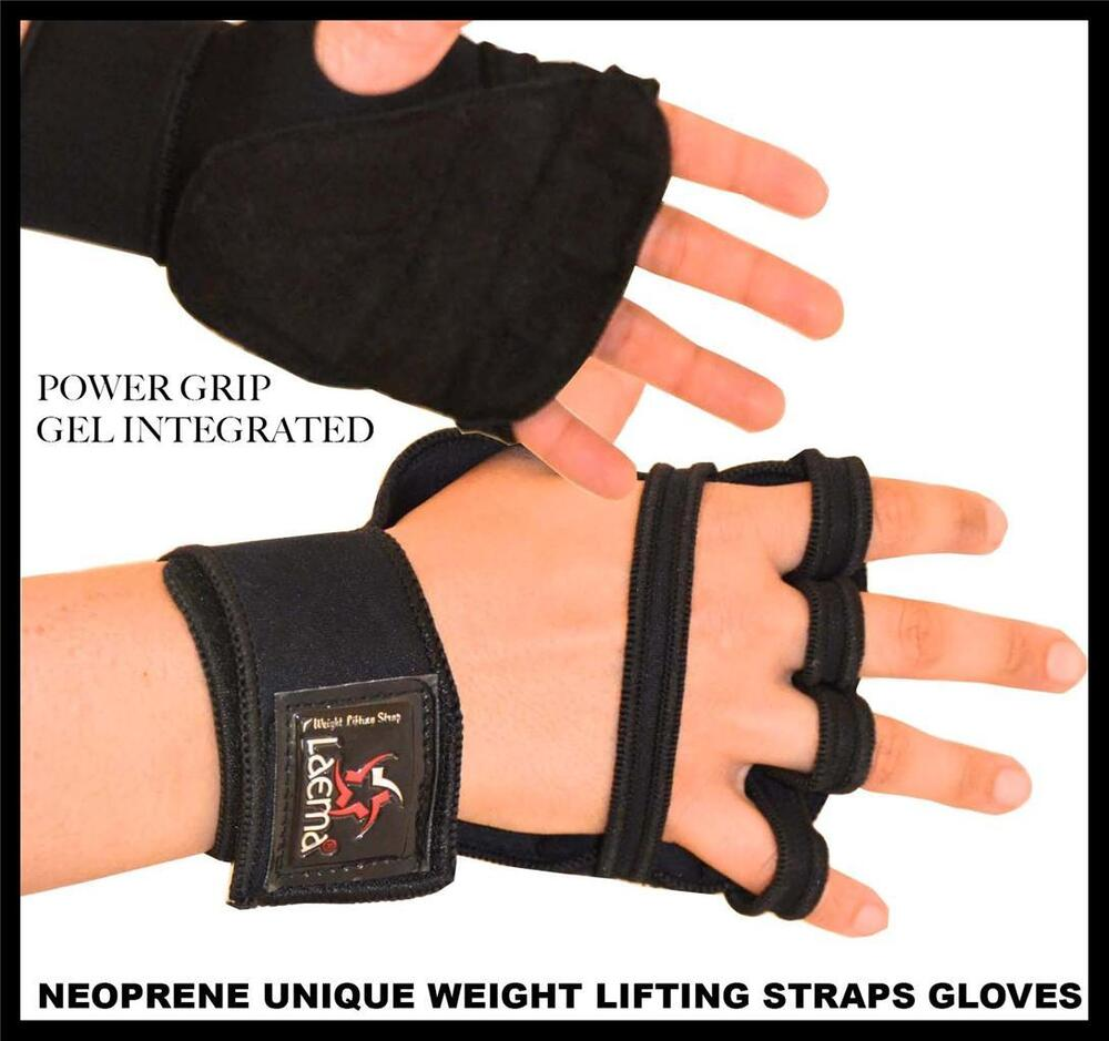 Gym Gloves Weight Lifting Leather Workout Wrist Support: Unique Easy Gel Padded Weight Lifting Training Gym Straps