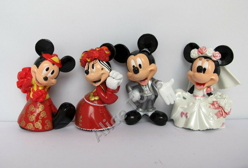 Mickey & Minnie Mouse Lovely Prefect Wedding Cake Topper