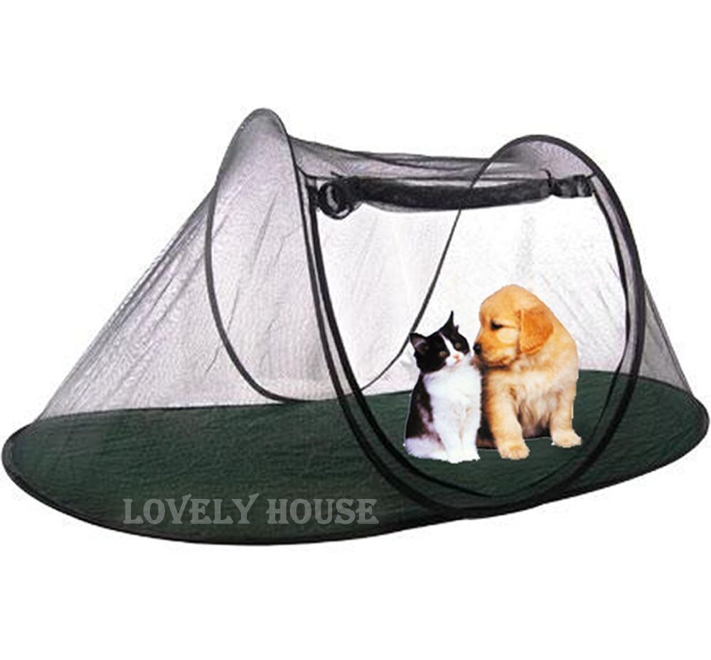 pet fun house cat dog play enclosure tent with carry bag pet toy ebay. Black Bedroom Furniture Sets. Home Design Ideas