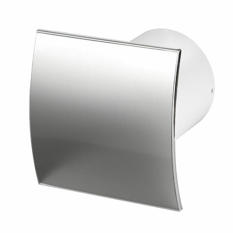 """Quiet Bathroom Light Pull Switch: Stainless Steel Bathroom Extractor Fan 100mm 4"""" Timer"""