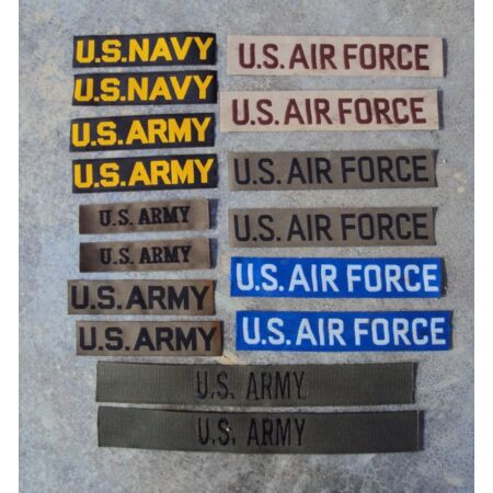 img-1950's to Vietnam War US Army Navy Air Force Pair of Patches / Badges / Tapes