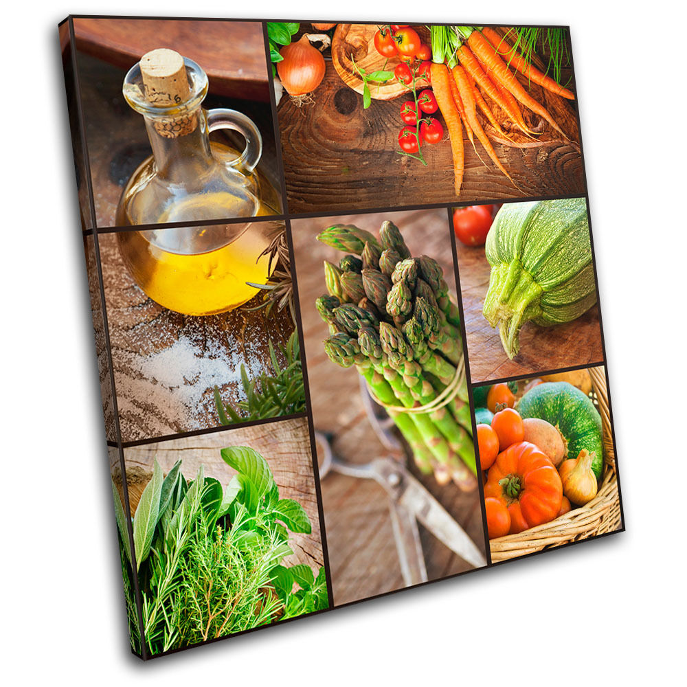 Organic Cooking Food Kitchen SINGLE CANVAS WALL ART