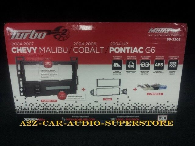 Metra 99 3303 Chevy Malibu Cobalt Pontiac G6 04 08 Stereo Dash Kit New In Box Ebay