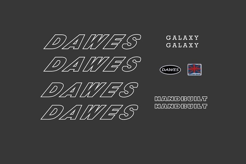 DAWES top tube decal for Super Galaxy model.