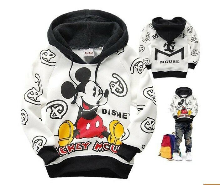 kinder jungen m dchen micky maus kapuzen pullover. Black Bedroom Furniture Sets. Home Design Ideas
