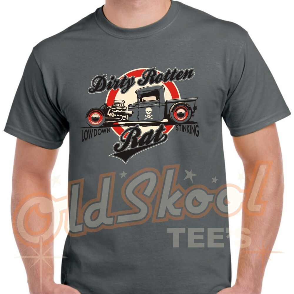 hot rat rod t shirt tee retro oldskool antique car classic