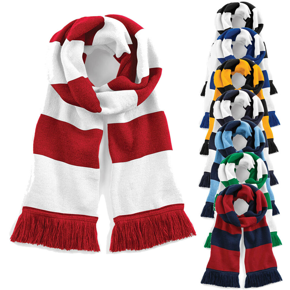 football and rugby team supporters scarf contrast scarves